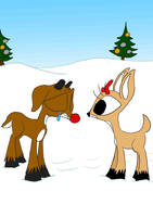 Poor Rudolph by WaggonerCartoons