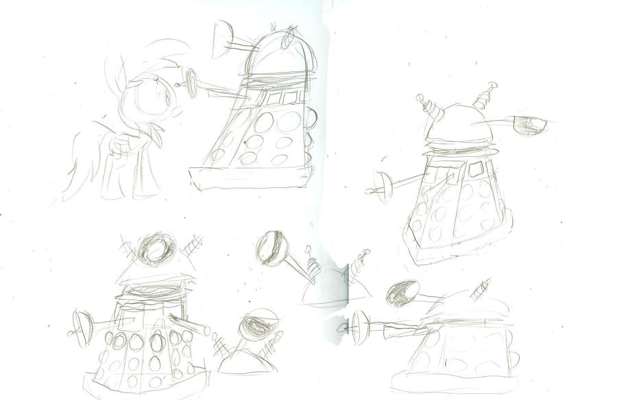 Cartoon Daleks designs by WaggonerCartoons