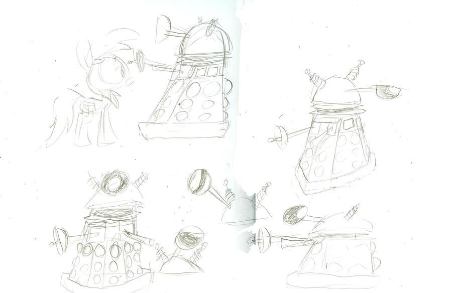 Cartoon Daleks designs by WaggonerCartoons