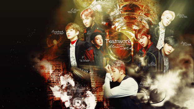 BTS Wallpaper - Teamwork Makes the Dreamwork