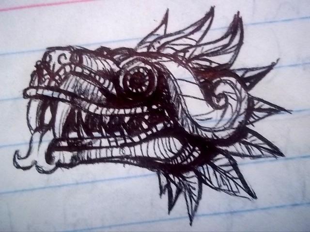 Quetzalcoatl sketch2 by Rhafiel on DeviantArt