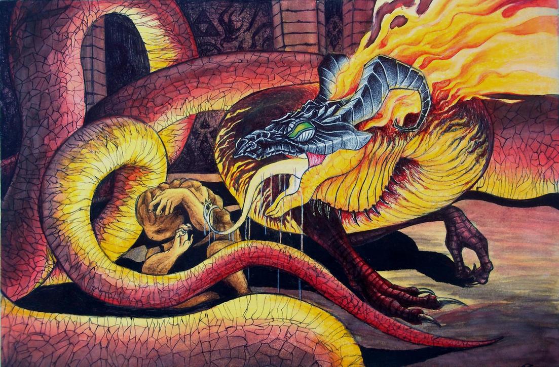 Volvagia, Subterranean Lava Dragon by Rhafiel