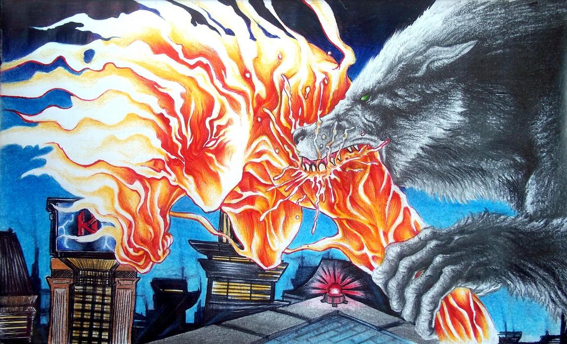 Fight Fire with Fangs by Rhafiel