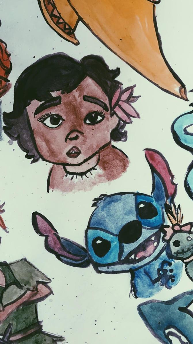 moana and stitch by littleredridinghood4