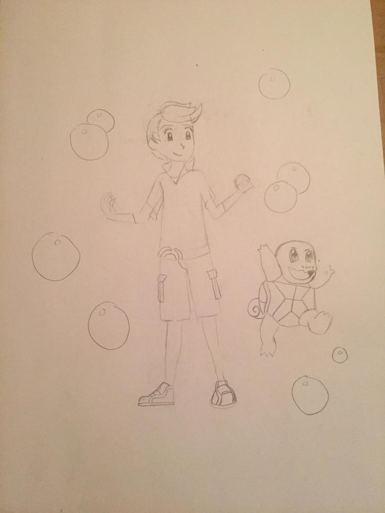 sketch of a pokemaster by littleredridinghood4