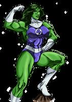 She-Hulk Victory Pose by MarianGTS