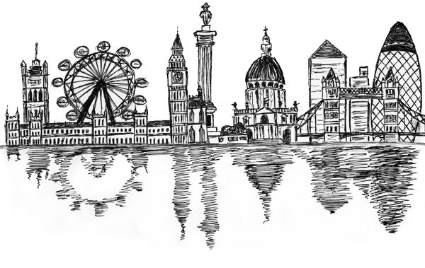 Line Drawing Tattoo London : Skyline sketch by mark cmd on deviantart