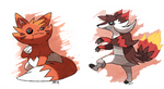 Fire Raccoons Pyrocoon and Sneacoon