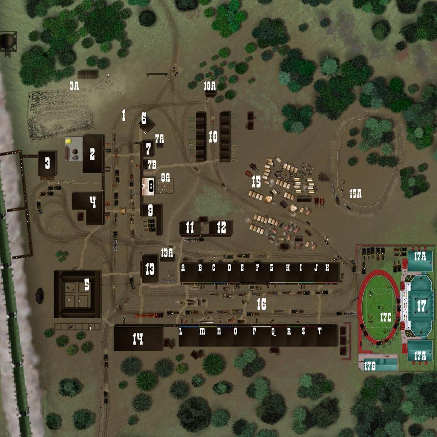 Buffalo Creek Map by WickerWolfArt