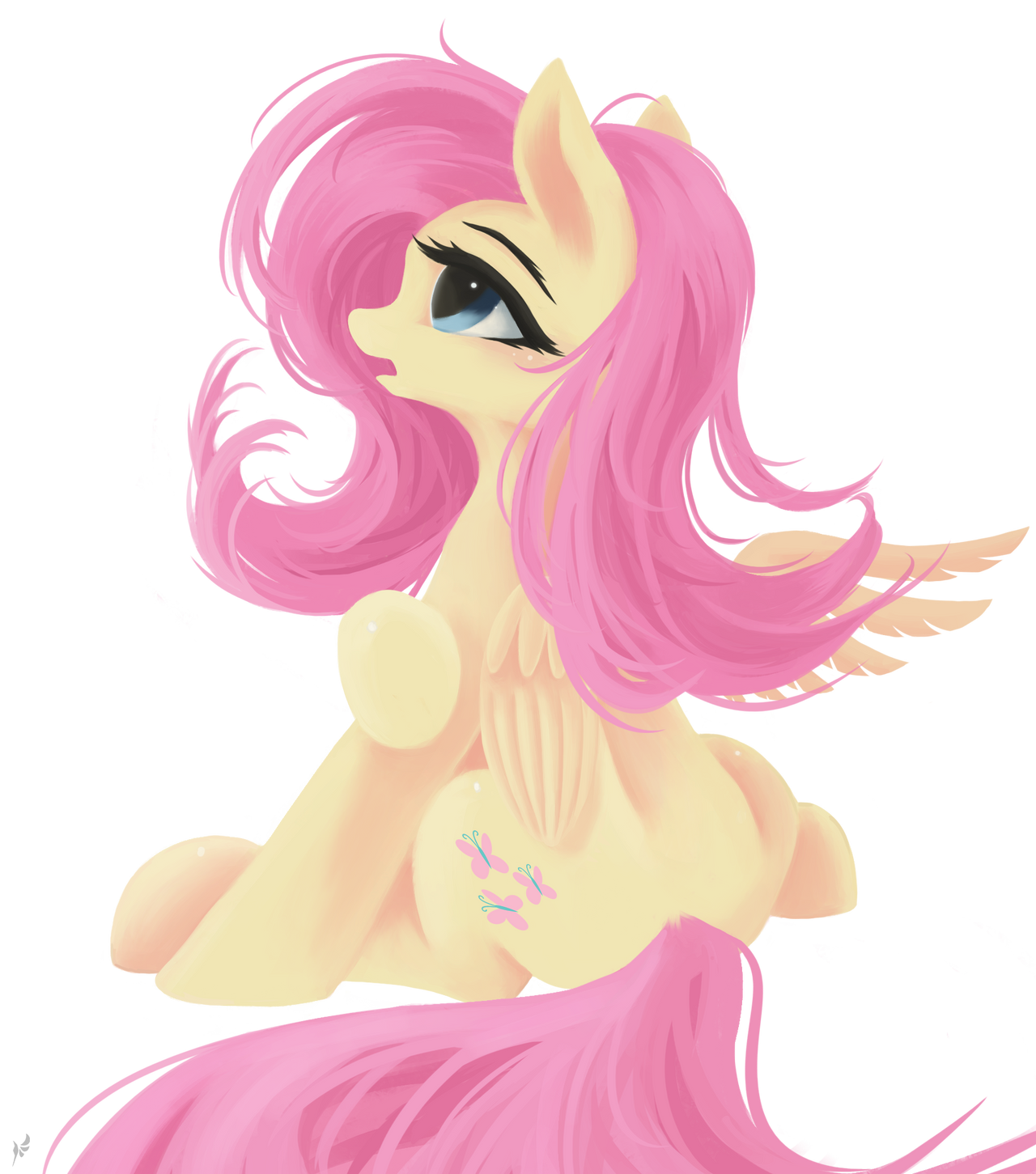 Fluttershy(transparent background) by Fluttersheeeee on