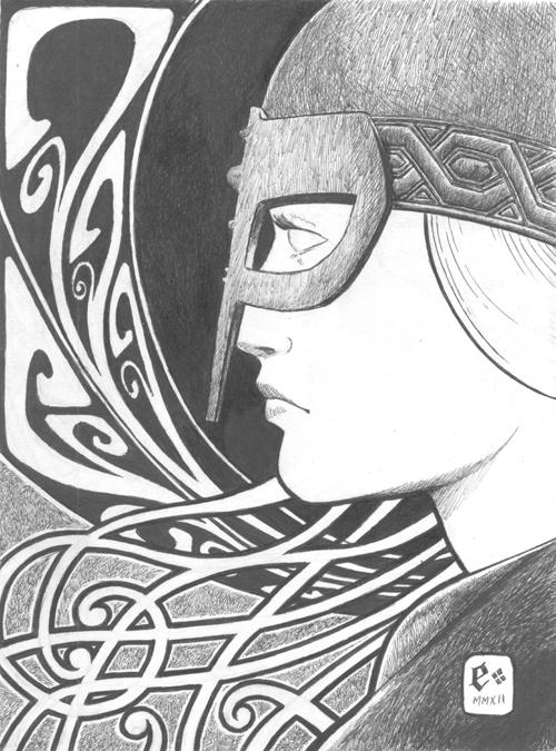 Nordic Female Warrior by JEspadas