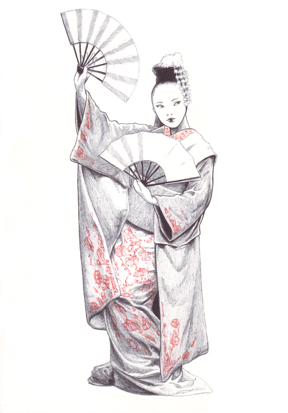Commission Geisha by JEspadas
