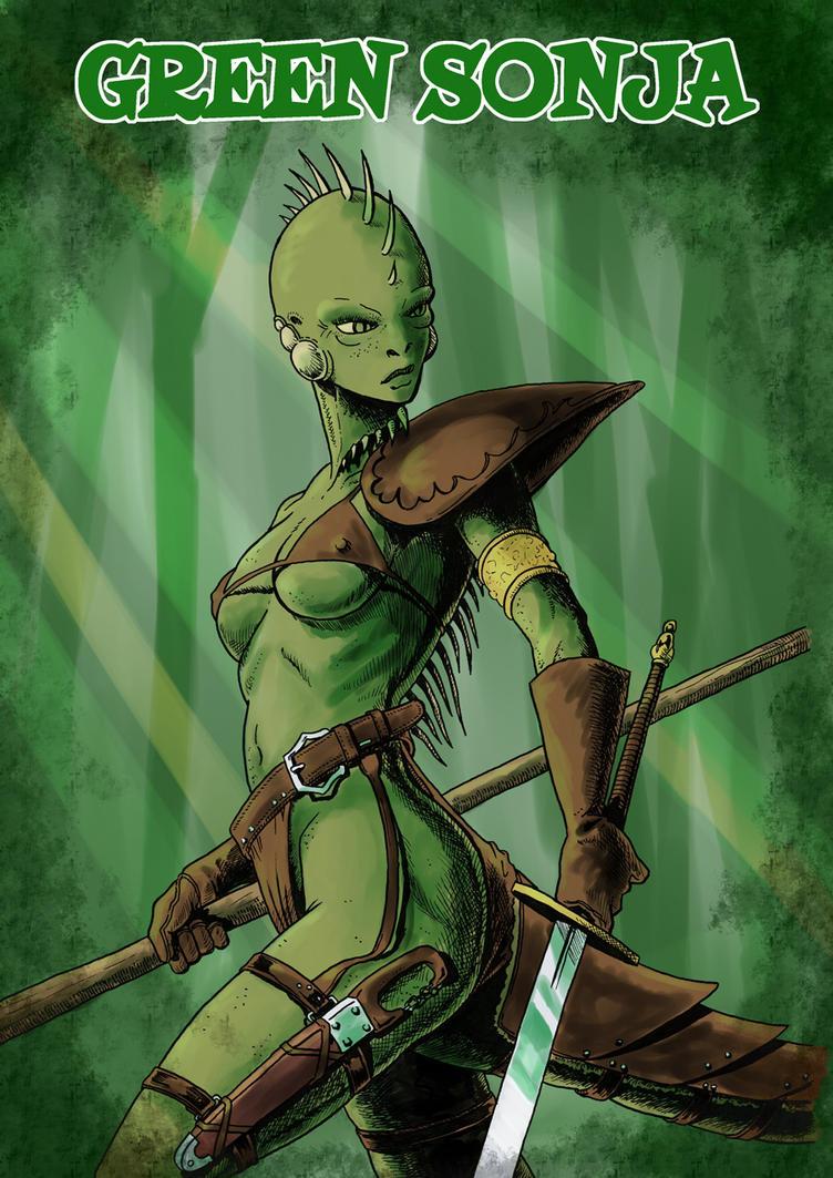 Green Sonja by JEspadas