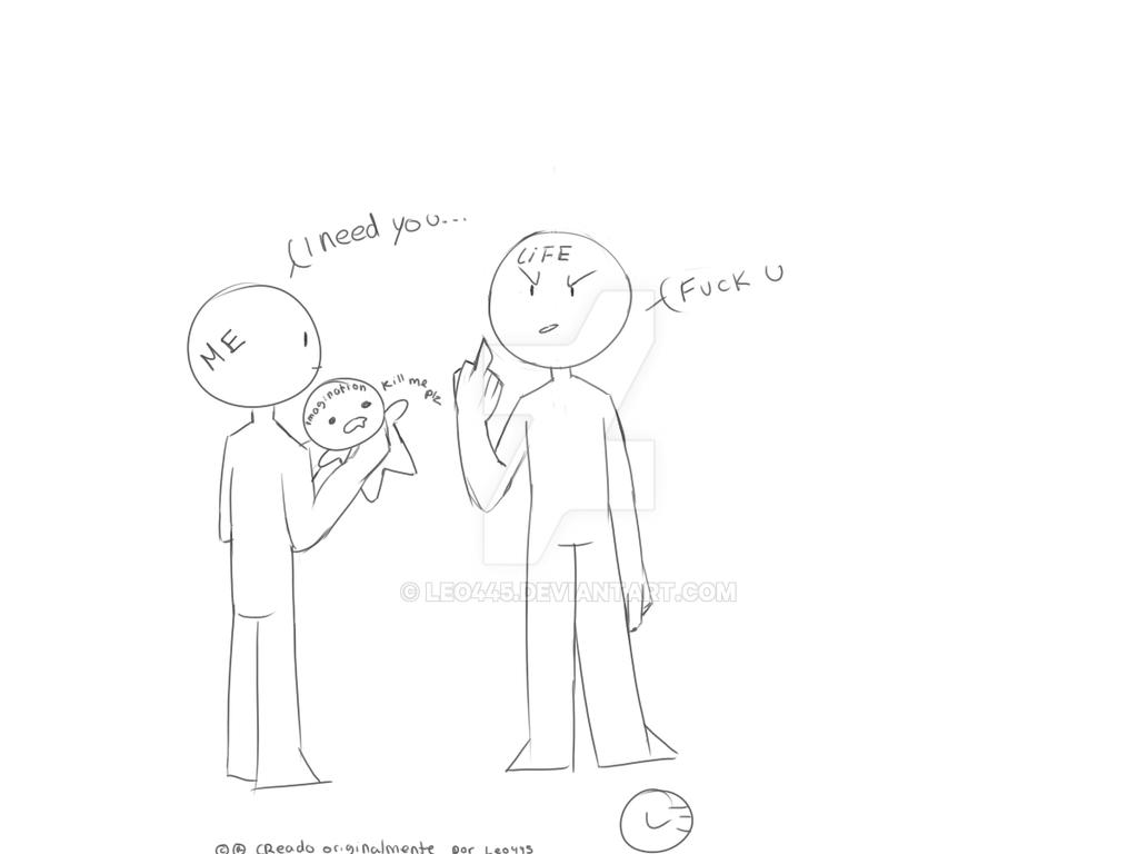 A slice of my life (super mini comic) by Leo445