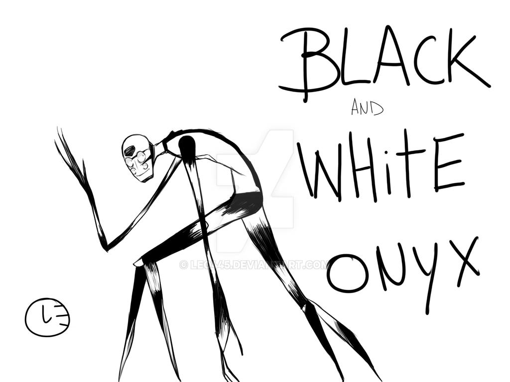 Black And Whit eOnyx (gemsona fusion) by Leo445