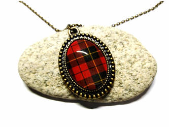 Wallace Tartan - Bronze Necklace + pendant by J-LE7