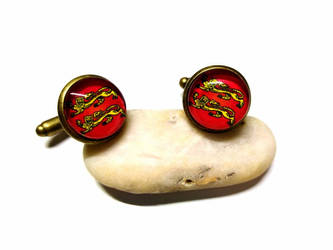 Normandy coat of arms - Bronze Cufflinks by J-LE7