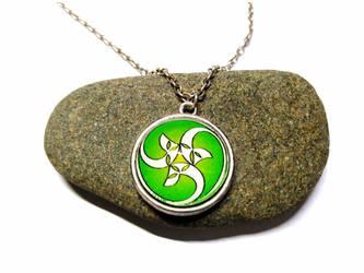 Celtic spiral - Silver Necklace + pendant by J-LE7