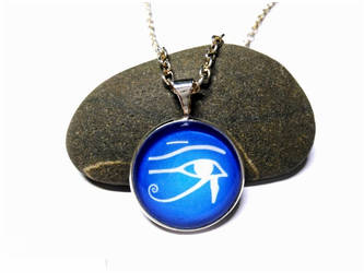 Eye of Horus - Silver Necklace + pendant by J-LE7