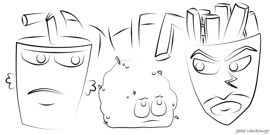 aqua teen hungerforce coloring pages - photo#2