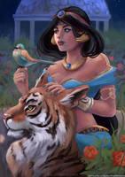 Jasmine, Aladdin Fanart by Karolina-Mircevska