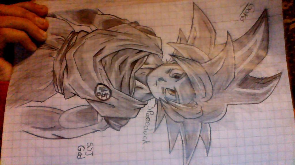 Goku SSJ GOD by GrandDibu