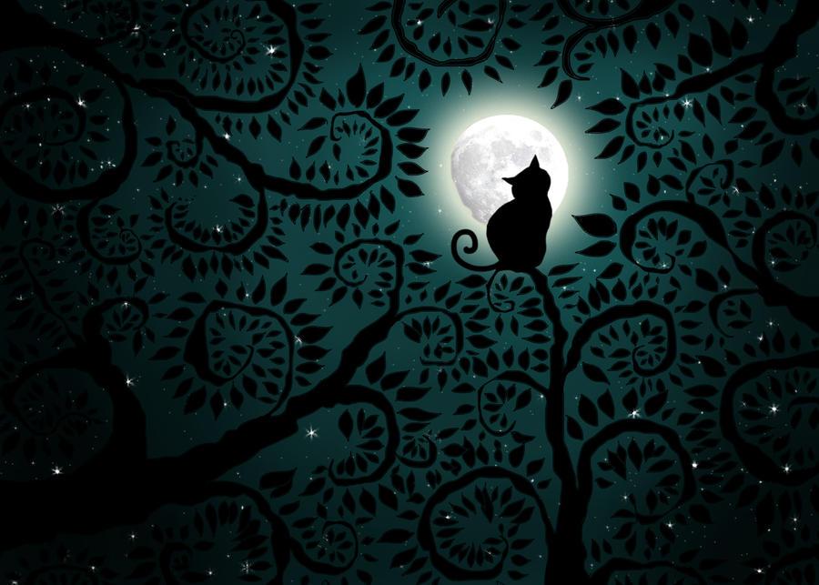 Love Cats Moon Moon Cat ii by Supernaturall