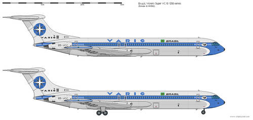 Vickers Super VC.10  V.1200 Varig