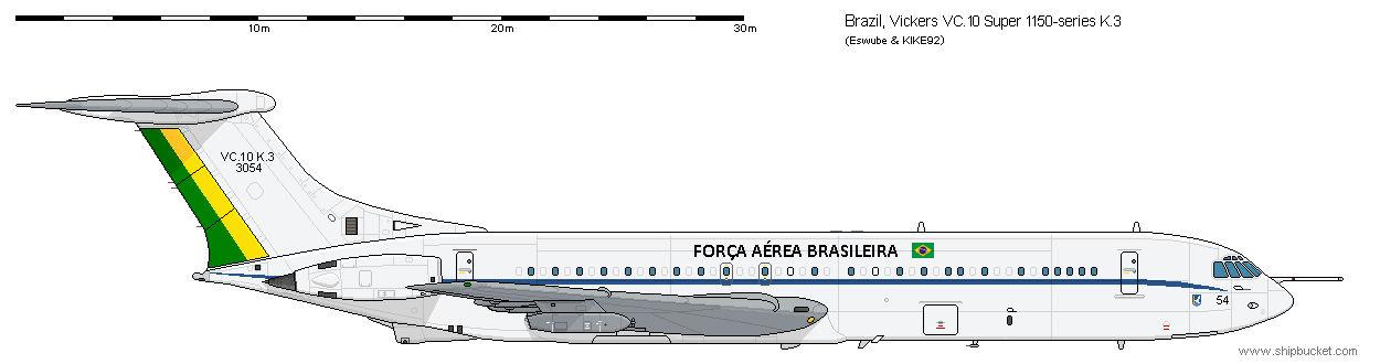 Vickers VC.10 Super V.1150  K.3 Brazil