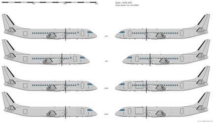 CASA 3000 - Civil Variants 1st Generation