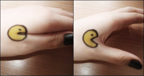 Pacman on hand by Musicelle