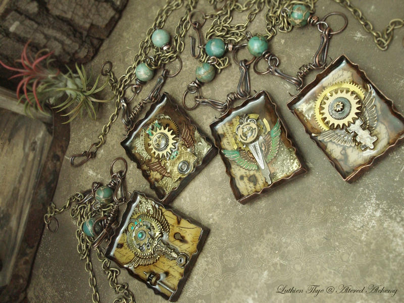 Steampunk Totems by luthien27