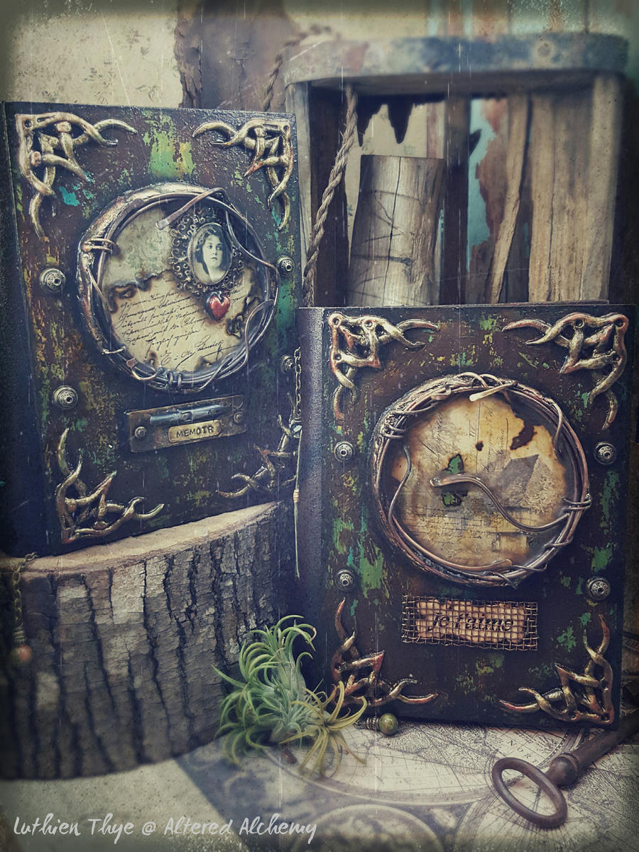 Memoir and Homecoming - Mixed Media Journals by luthien27