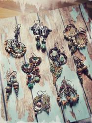 Art Jewelry - Earrings by LuthienThye