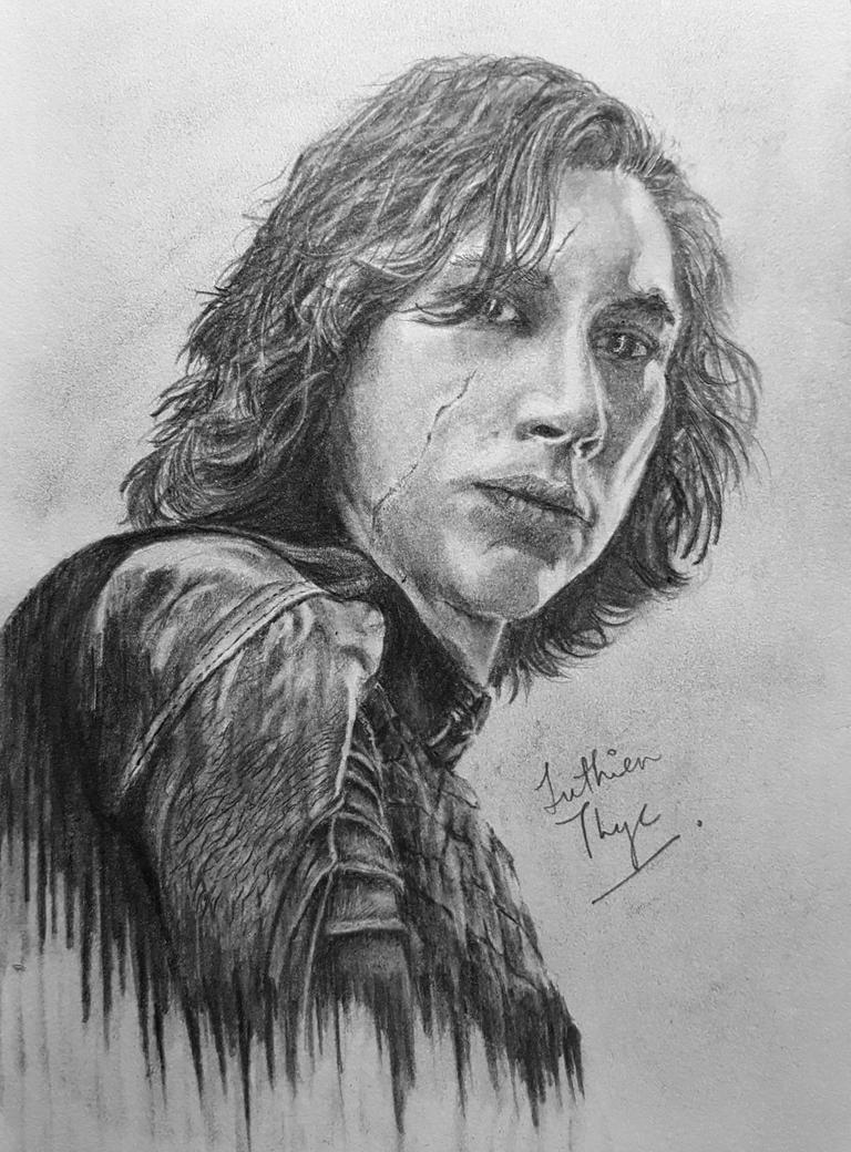 Adam Driver as Kylo Ren by LuthienThye