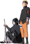 Naruto and Sasuke Naruto The Animation Chronicle
