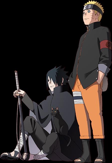 Naruto and Sasuke Naruto The Animation Chronicle by AiKawaiiChan