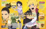 Shikadai y Boruto huyendo de Hinata Otomedia