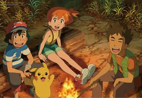 Ash, Misty y Brock by AiKawaiiChan