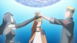 Boruto, Naruto y Hinata Familia Uzumaki by AiKawaiiChan