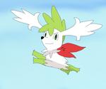 A flying Shaymin