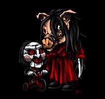 SD Pigface and Billy by DeTinteyLengua