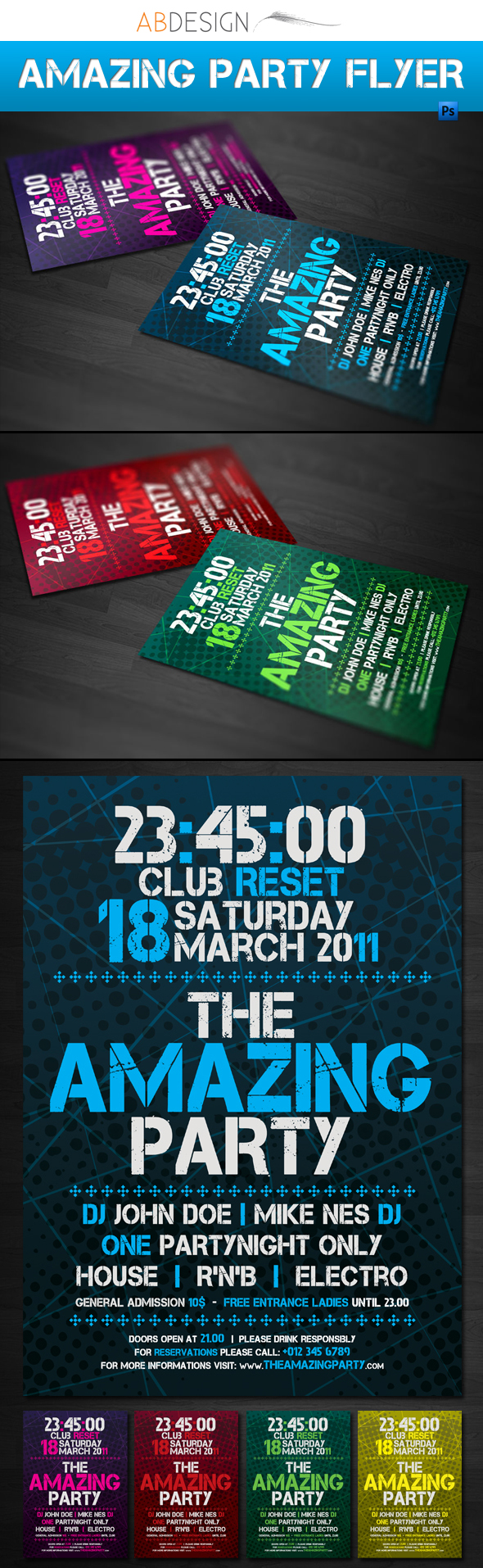 Amazing party Flyer Template