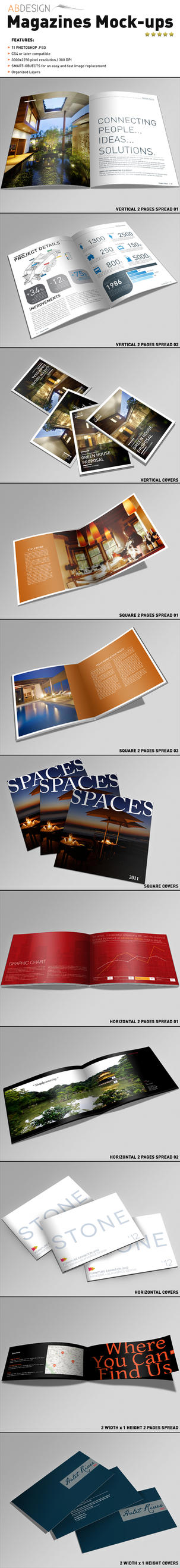 Magazines Mock-ups by andre2886