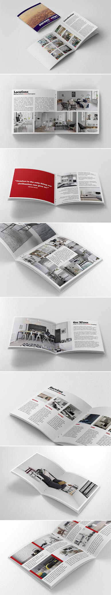 Square Design Brochure by andre2886