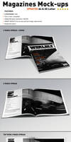 Realistic Magazine Mock-ups Templates