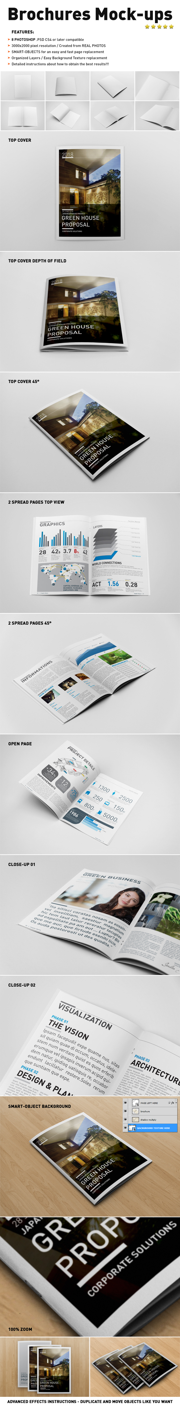 brochure mock up template - photorealistic brochure mock ups templates by andre2886 on