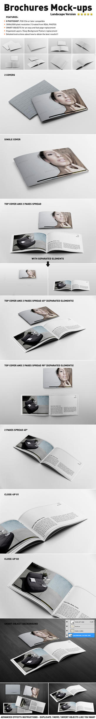 Photorealistic Landscape Brochure Mock-ups by andre2886