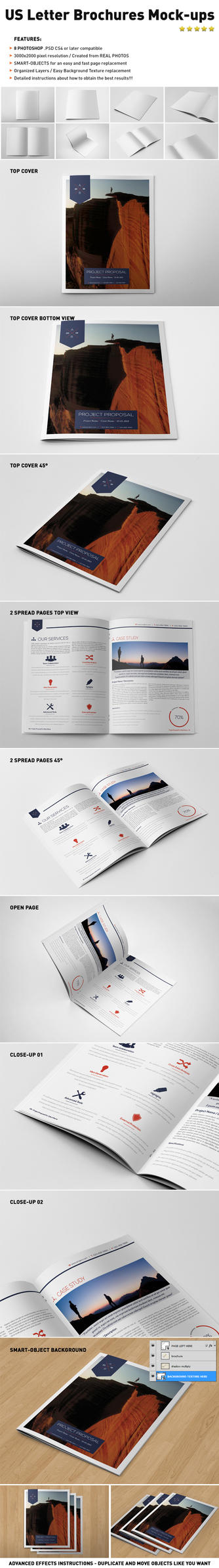 Photorealistic US LETTER Brochure Mock-ups by andre2886