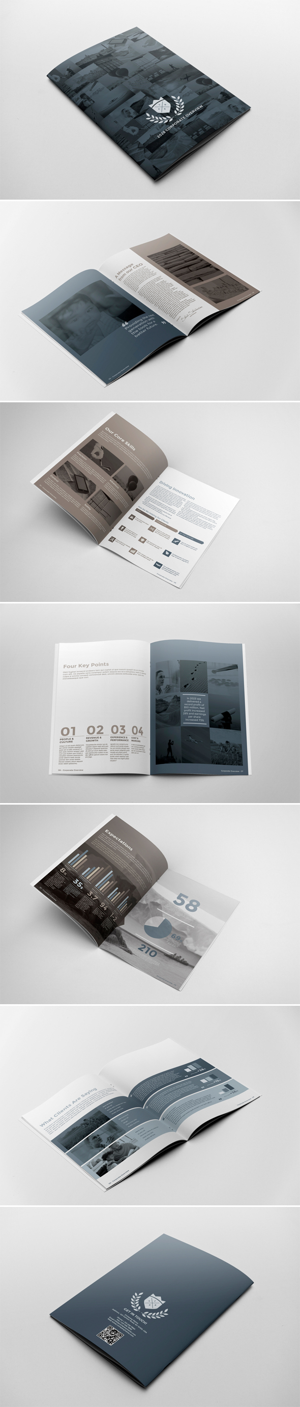 Corporate Brochure Report Template by andre2886